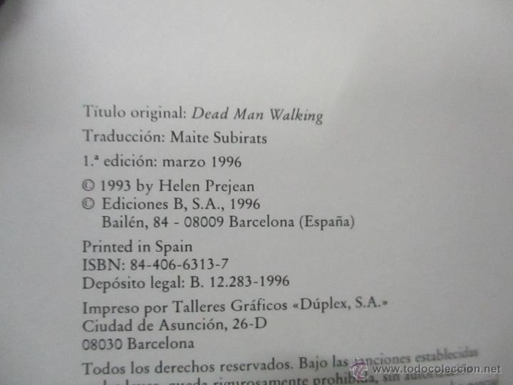Libros de segunda mano: PENA DE MUERTE - SISTER HELEN PREJEAN - Foto 4 - 213445731