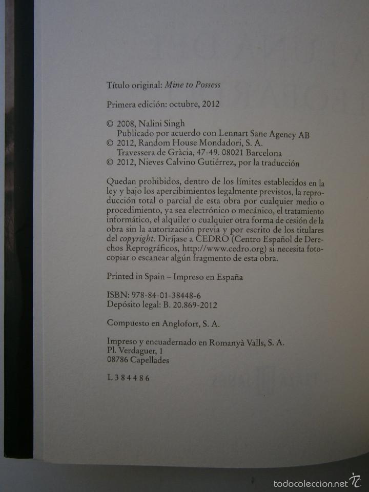 Libros de segunda mano: LA LUNA DEL LEOPARDO Nalini Singh 1 edicion 2012 - Foto 9 - 131550187