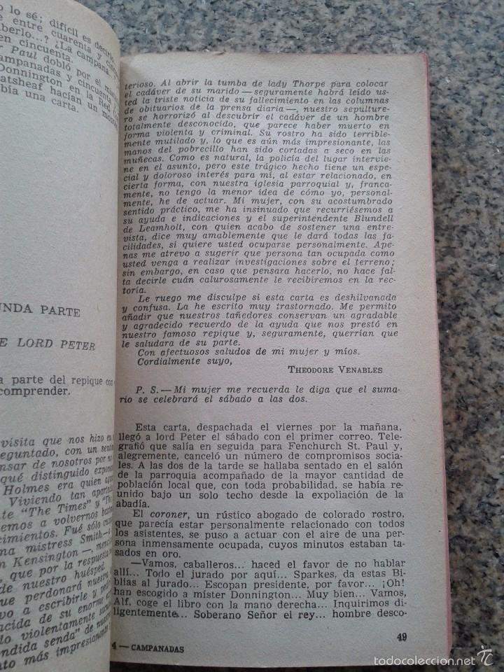 Libros de segunda mano: NUEVE CAMPANADAS -- DOROTHY L. SAYERS -- COLECCION EL BUHO - Nº 98 -- 1959 -- - Foto 2 - 57539979