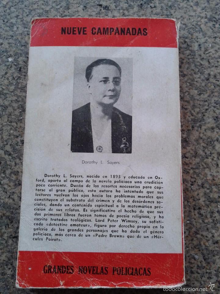 Libros de segunda mano: NUEVE CAMPANADAS -- DOROTHY L. SAYERS -- COLECCION EL BUHO - Nº 98 -- 1959 -- - Foto 3 - 57539979