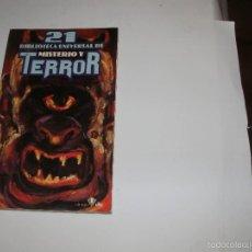 Libros de segunda mano: BIBLIOTECA UNIVERSAL DE MISTERIO Y TERROR. N° 21 - EDICIONES UVE 1981-. Lote 57767469