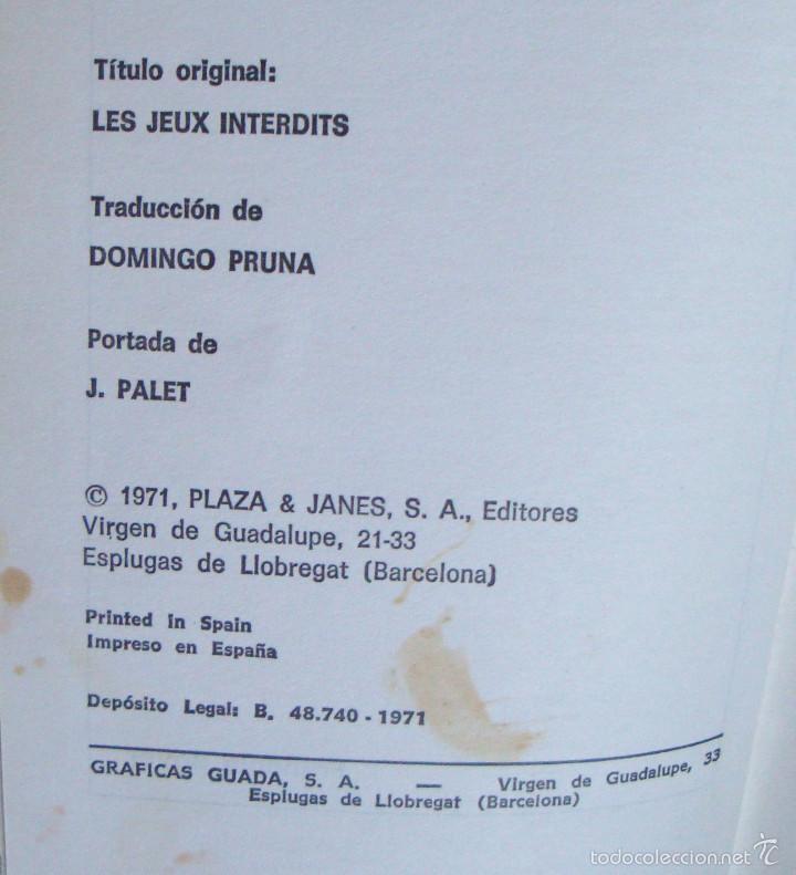 Libros de segunda mano: François Boyer juegos prohibidos Rotativa P&J 1971 ¡oferta mas de 3 libros descuento 25%! - Foto 2 - 57879659