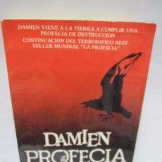 Libros de segunda mano: DAMIEN PROFECIA II. JOSEPH HOWARD. JAVIER VERGARA EDITOR. 1978. BUENOS AIRES. 220PAGS. 18,3X11CM. Lote 153603454