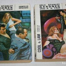 Libros de segunda mano: LOTE DE 2 NOVELAS, COOL & LAM AGENCIA DE DETECTIVES, EDITORIAL MOLINO 1982. Lote 61725668