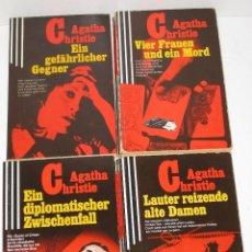 Libros de segunda mano: LOTE 4 LIBROS DE BOLSILLO DE AGATHA CHRISTIE EN ALEMÁN. Lote 62045180