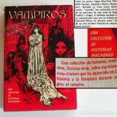 Libros de segunda mano: VAMPIROS - LIBRO HISTORIAS MACABRAS REALES FICTICIAS VAMPIRISMO RELATOS TERROR LA MUERTE DE DRÁCULA. Lote 66444434