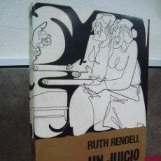 Libros de segunda mano: RUTH RENDELL, UN JUICIO DE PIEDRA. Lote 69258061