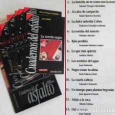 Libros de segunda mano: CUADERNOS DEL ASFALTO Y TAPAS 12 RELATOS SELEC. DE JUAN MADRID CAMBIO 16 - RELATO POLICIACO SUSPENSE. Lote 70229249