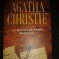 Libros de segunda mano: LA MUERTE DE LORD EDGWARE-AGATHA CRISTIE-PLANETA DEAGOSTINI. Lote 72422223