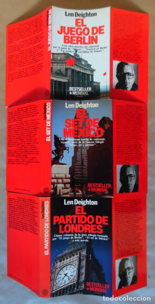DEIGHTON. LA TRILOGÍA: JUEGO BERLÍN, SET MÉXICO Y PARTIDO LONDRES. LEN DEIGHTON. GUERRA DE ESPÍAS (Libros de segunda mano (posteriores a 1936) - Literatura - Narrativa - Terror, Misterio y Policíaco)