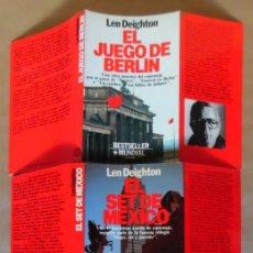 Libros de segunda mano: DEIGHTON. LA TRILOGÍA: JUEGO BERLÍN, SET MÉXICO Y PARTIDO LONDRES. LEN DEIGHTON. GUERRA DE ESPÍAS. Lote 72818483