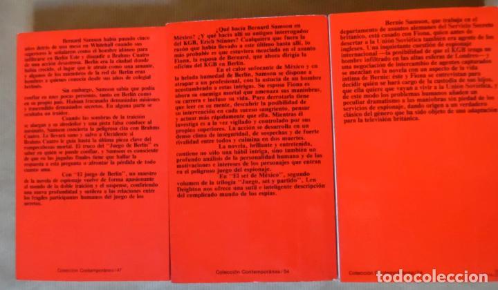 Libros de segunda mano: Deighton. La trilogía: Juego Berlín, Set México y Partido Londres. Len Deighton. Guerra de espías - Foto 2 - 72818483