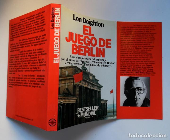 Libros de segunda mano: Deighton. La trilogía: Juego Berlín, Set México y Partido Londres. Len Deighton. Guerra de espías - Foto 4 - 72818483