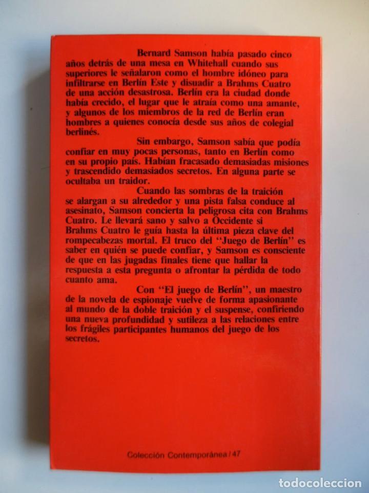 Libros de segunda mano: Deighton. La trilogía: Juego Berlín, Set México y Partido Londres. Len Deighton. Guerra de espías - Foto 5 - 72818483