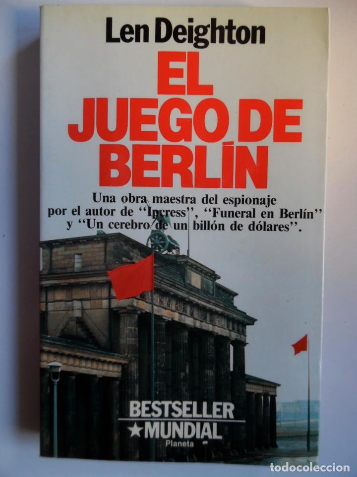 Libros de segunda mano: Deighton. La trilogía: Juego Berlín, Set México y Partido Londres. Len Deighton. Guerra de espías - Foto 7 - 72818483