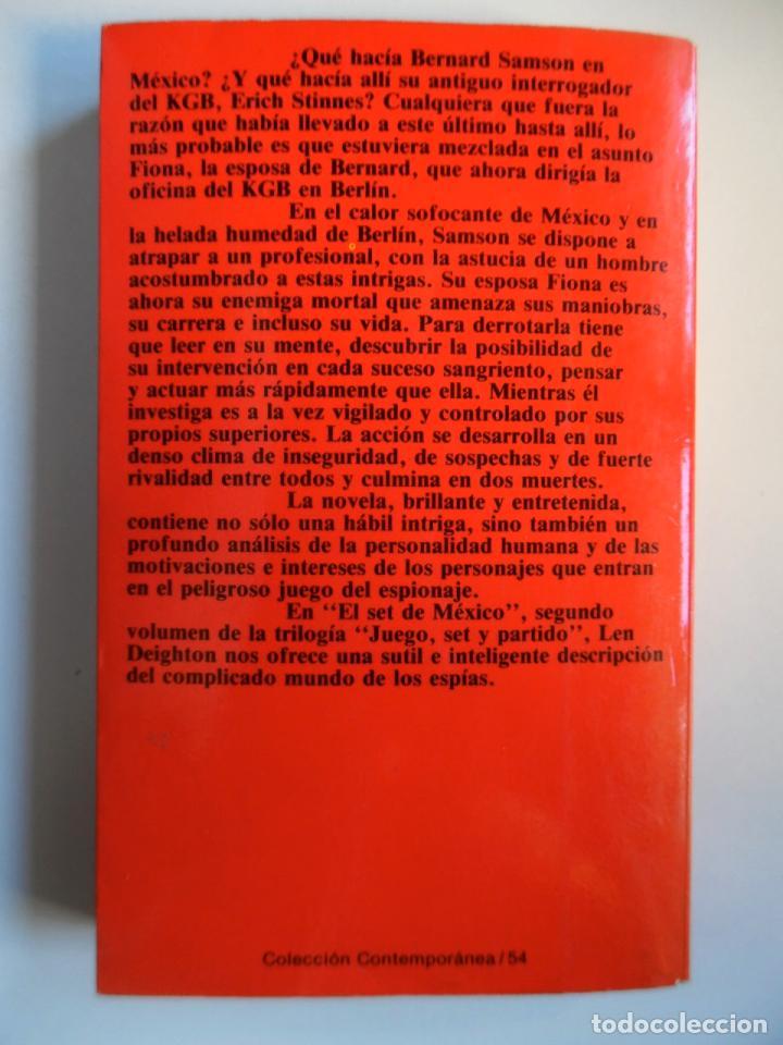 Libros de segunda mano: Deighton. La trilogía: Juego Berlín, Set México y Partido Londres. Len Deighton. Guerra de espías - Foto 10 - 72818483