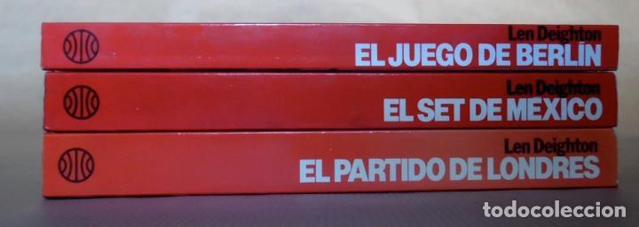 Libros de segunda mano: Deighton. La trilogía: Juego Berlín, Set México y Partido Londres. Len Deighton. Guerra de espías - Foto 16 - 72818483