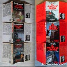 Libros de segunda mano: LEN DEIGHTON 2 TRILOGÍAS: ANZUELO, SEDAL, PLOMO ESPÍAS Y JUEGO BERLÍN, SET MÉXICO, PARTIDO LONDRES. Lote 72820339