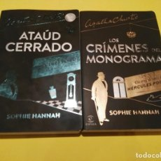 Libros de segunda mano: LOS CRÍMENES DEL MONOGRAMA + ATAÚD CERRADO. Lote 74344595