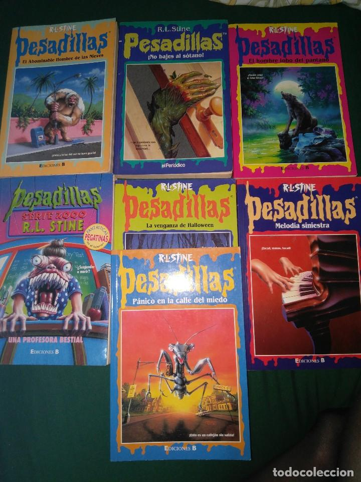 LOTE 7 NOVELAS DE PESADILLAS R. L. STINE SERIE 2000 EL HOMBRE LOBO MELODIA SINIESTRA, ETC (Libros de segunda mano (posteriores a 1936) - Literatura - Narrativa - Terror, Misterio y Policíaco)