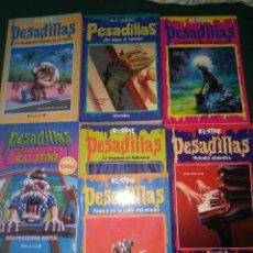 Libros de segunda mano: LOTE 7 NOVELAS DE PESADILLAS R. L. STINE SERIE 2000 EL HOMBRE LOBO MELODIA SINIESTRA, ETC. Lote 75302995
