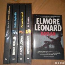 Libros de segunda mano: LOTE 5 LIBROS ELMORE LEONARD RAYLAN PERROS CALLEJEROS UN TIPO IMPLACABLE NUEVOS. Lote 77939413