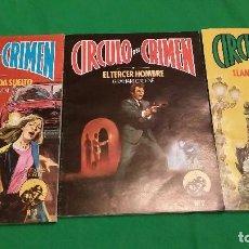 Libros de segunda mano: LOTE CIRCULO DEL CRIMEN – NUMEROS 1, 2 Y 3 – AÑO 1982 – EDICIONES FORUM. Lote 78548209