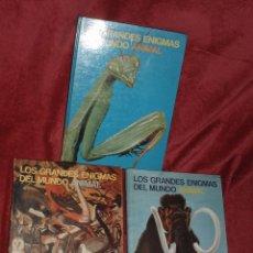 Libros de segunda mano: GRANDES ENIGMAS DEL MUNDO ANIMAL 3 LIBROS. Lote 26776893