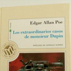 Libros de segunda mano: LOS EXTRAORDINARIOS CASOS DE MONSIEUR DUPIN, DE EDGAR ALLAN POE.. Lote 82839360