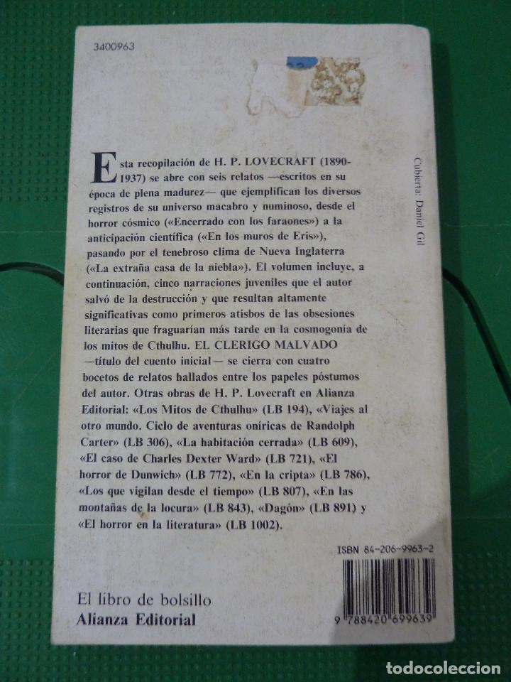 Libros de segunda mano: H.P. LOVECRAFT - ALIANZA EDITORIAL - 8 TITULOS - Foto 2 - 83155964