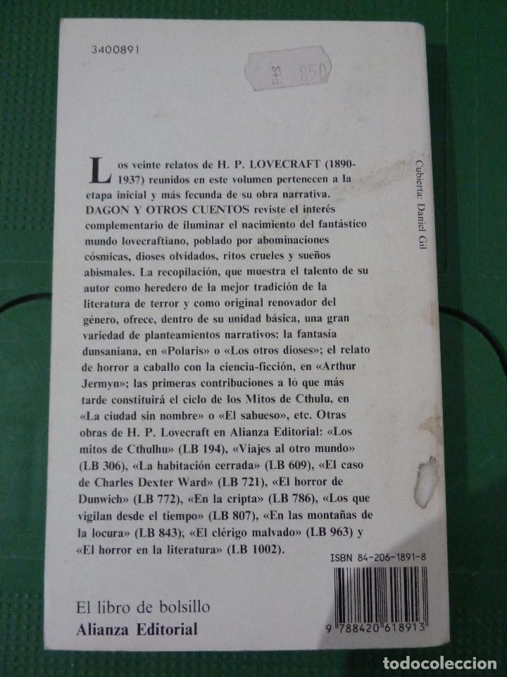 Libros de segunda mano: H.P. LOVECRAFT - ALIANZA EDITORIAL - 8 TITULOS - Foto 8 - 83155964