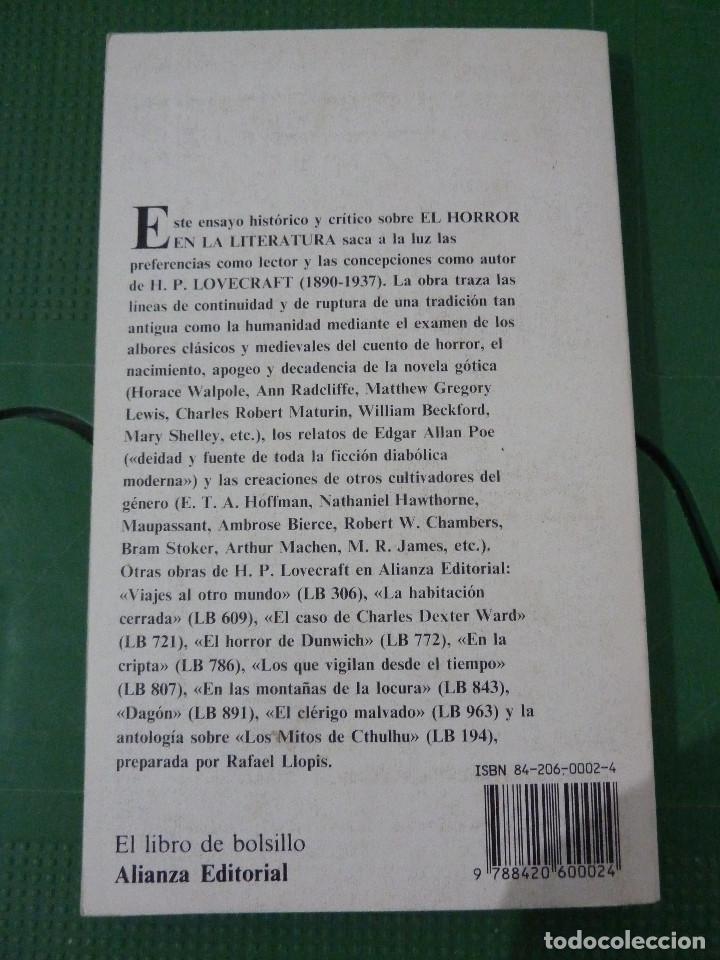 Libros de segunda mano: H.P. LOVECRAFT - ALIANZA EDITORIAL - 8 TITULOS - Foto 10 - 83155964