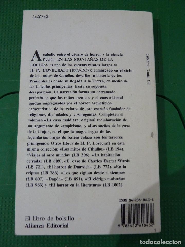 Libros de segunda mano: H.P. LOVECRAFT - ALIANZA EDITORIAL - 8 TITULOS - Foto 12 - 83155964