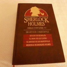 Libros de segunda mano: LIBRO-SHERLOCK HOLMES OBRAS COMPLETAS(1)-EDICIONES ORBIS(1987). Lote 83451556