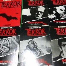 Libros de segunda mano: LOTE 5 LIBROS BIBLIOTECA DEL TERROR Y TAPAS. Lote 87246612