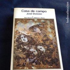 Libros de segunda mano: CASA DE CAMPO. JOSE DONOSO. Lote 87416056
