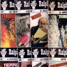 Libros de segunda mano: ESCALOFRIOS TERROR - RALPH BARBY - -LOTE 12 Nº-1,2,5,6,9,10,12,13,20,34,36,37. Lote 126627851