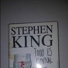 Libros de segunda mano: STEPHEN KING - TODO ES EVENTUAL - 14 RELATOS OSCUROS - PLAZA & JANES PRIMERA 1ª EDICIÓN - TAPA DURA. Lote 89759264