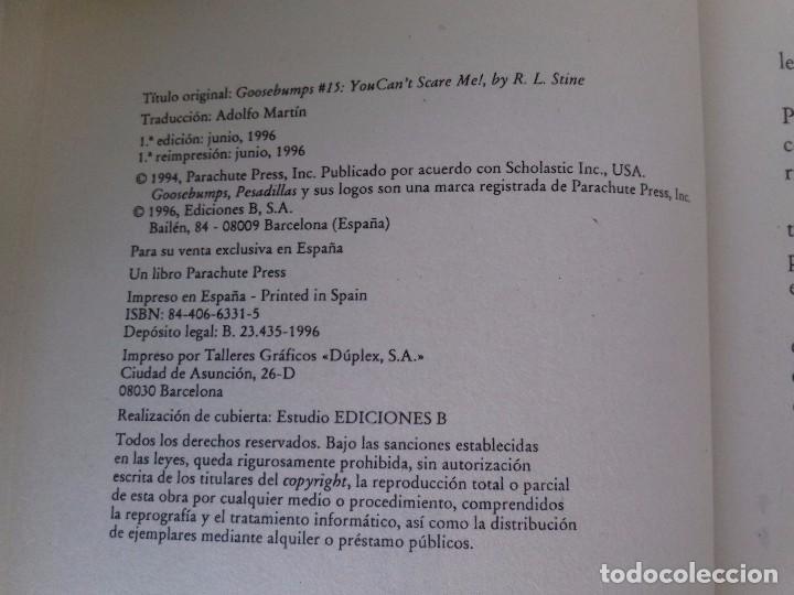 Libros de segunda mano: PESADILLAS-LA REPUGNANTE CARA DEL TERROR- R. L . STINE / EDICIONES B-EDICION 1996 - Foto 5 - 94212470