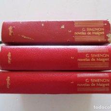 Libros de segunda mano: GEORGES SIMENON. NOVELAS DE MAIGRET. TOMOS 1, 2 Y 3. TRES TOMOS. RM82052. . Lote 94713699