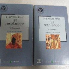 Libros de segunda mano: EL RESPLANDOR (2 TOMOS) -STEPHEN KING, . Lote 98088579