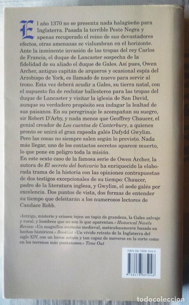 Libros de segunda mano: EL CRIMEN DEL SANTUARIO. DE CANDACE ROBB - Foto 2 - 101854411