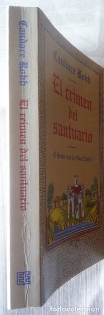 Libros de segunda mano: EL CRIMEN DEL SANTUARIO. DE CANDACE ROBB - Foto 3 - 101854411