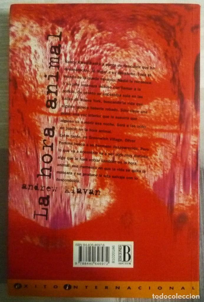 Libros de segunda mano: LA HORA ANIMAL. DE ANDREW KLAVAN - Foto 2 - 101933263