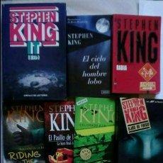 Libros de segunda mano: LOTE 11 LIBROS STEPHEN KING. RABIA, IT, EL CICLO DEL HOMBRE LOBO, LAS CUATRO ESTACIONES, .... Lote 103860791