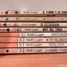 Livres d'occasion: LOTE NOVELAS DEL OESTE. HEITH LUGER. COLECCIÓN ASES DEL OESTE. BOLSILIBROS BRUGUERA - NW1. Lote 147057070