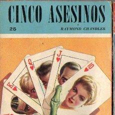 Libros de segunda mano: RAYMOND CHANDLER : CINCO ASESINOS (RASTROS ACME, 1944) PRIMERA EDICIÓN EN CASTELLANO. Lote 106764383