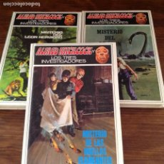 Libros de segunda mano: 3 LIBROS ALFRED HITCHCOCK- LOS TRES INVESTIGADORES AÑOS 80'. Lote 107538823