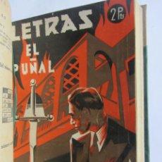 Libros de segunda mano: LETRAS REVISTA LITERARIA POPULAR. NÚMEROS 28, 37 Y 40 ENCUADERNADOS EN UN VOLUMEN. 1939-1940. Lote 144101010