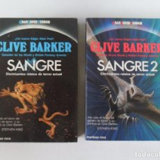 Libros de segunda mano: CLIVE BARKER - SANGRE 1 Y 2 - GRAN SUPER TERROR - MARTINEZ ROCA - 1988. Lote 112953963